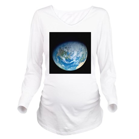 Earth from space, ar Long Sleeve Maternity T-Shirt