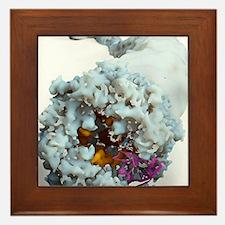 Ebola virus, molecular model Framed Tile