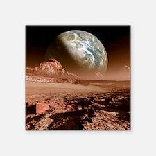 "Earth-like planet, artwork Square Sticker 3"" x 3"""