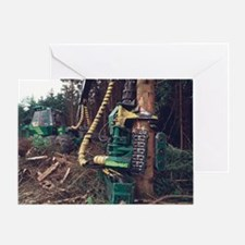 Commercial forestry Greeting Card
