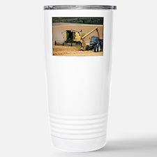 Combine harvester off-loading g Travel Mug