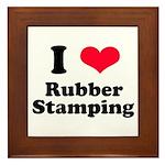 I Love Rubber Stamping Framed Tile