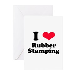 I Love Rubber Stamping Greeting Cards (Package of
