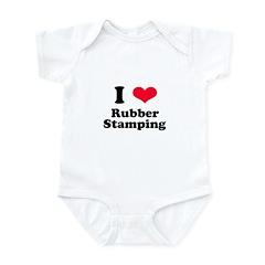 I Love Rubber Stamping Infant Bodysuit