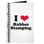 I Love Rubber Stamping Journal