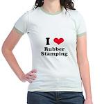 I Love Rubber Stamping Jr. Ringer T-Shirt
