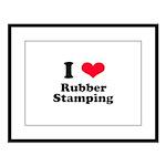 I Love Rubber Stamping Large Framed Print