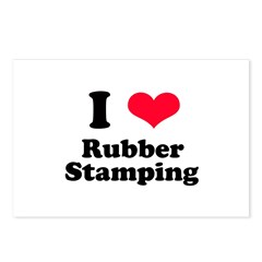 I Love Rubber Stamping Postcards (Package of 8)
