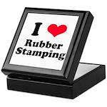 I Love Rubber Stamping Keepsake Box