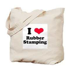I Love Rubber Stamping Tote Bag