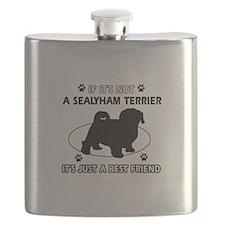 sealyham designs Flask