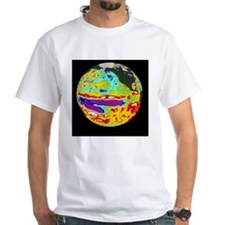Coloured sea level map showing La Shirt