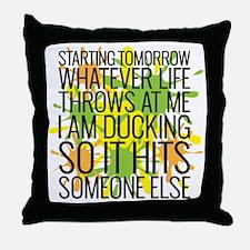 Ducking Throw Pillow