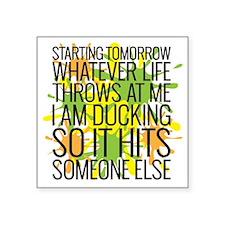 "Ducking Square Sticker 3"" x 3"""