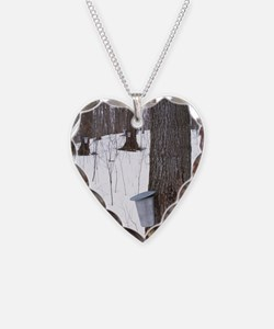 Collecting maple tree sap Necklace
