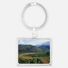 Coffee plantation Landscape Keychain