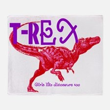 T-Rex Throw Blanket