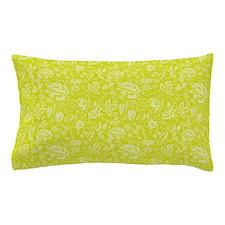 Block Floral Chartreuse Pillow Case