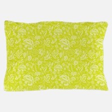 Block Floral Chartreuse Pillow Case