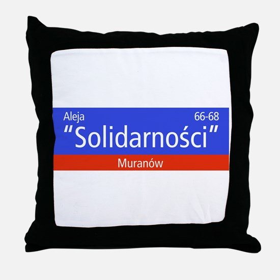"Aleja ""Solidarnosci"", Warsaw (PL) Throw Pillow"