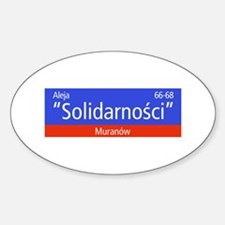 "Aleja ""Solidarnosci"", Warsaw (PL) Oval Decal"