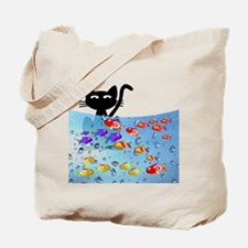 Whimsical Cat and Fish 1 Tote Bag