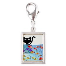 Whimsical Cat and Fish 1 Charms