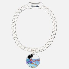 Whimsical Cat and Fish 1 Bracelet
