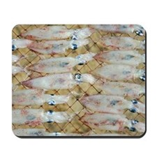 Drying squid Mousepad