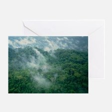 Clouds over forest on the foothills  Greeting Card