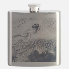 Clouds disrupted by islands Flask