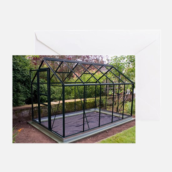 Domestic greenhouse under constructi Greeting Card