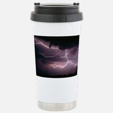 Cloud-to-cloud lightning over T Travel Mug