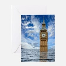 Climate change, conceptual image Greeting Card