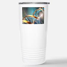 DNA molecule, artwork Stainless Steel Travel Mug