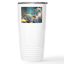 DNA molecule, artwork Travel Coffee Mug