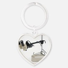 Dissecting microscope Heart Keychain