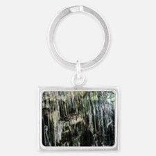 Chrysotile asbestos mineral Landscape Keychain