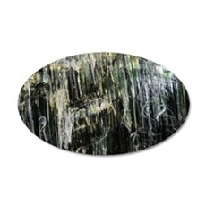 Chrysotile asbestos mineral 35x21 Oval Wall Decal