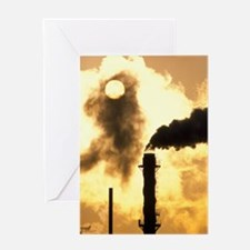 Chimney smoke from a chemical plant  Greeting Card