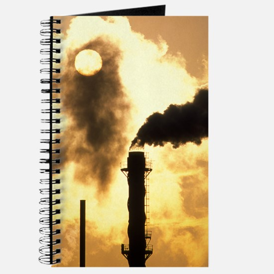 Chimney smoke from a chemical plant obscur Journal