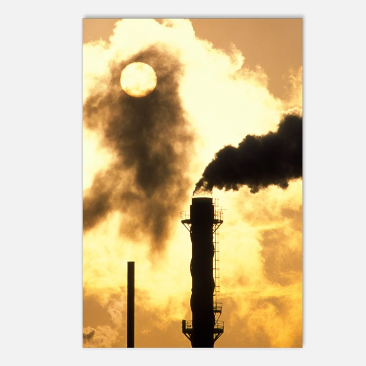 Chimney smoke from a chem Postcards (Package of 8)