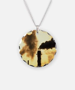 Chimney smoke from a chemica Necklace