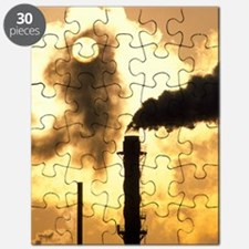 Chimney smoke from a chemical plant obscuri Puzzle