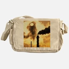 Chimney smoke from a chemical plant  Messenger Bag