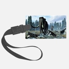Dire wolves and mammoths, artwor Luggage Tag