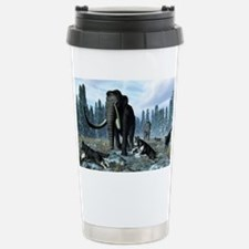 Dire wolves and mammoths, artwo Thermos Mug
