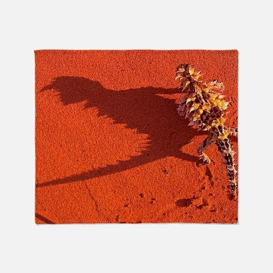 Desert adapted Thorny Devil Australi Throw Blanket