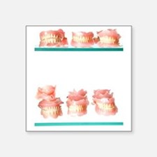 "Dental moulds Square Sticker 3"" x 3"""