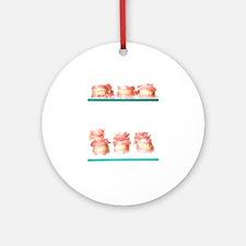 Dental moulds Round Ornament